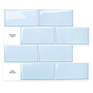 Peel and Stick Kitchen Bathroom Splashback_Brick Blue_(30cm x 26cm x 10 sheets)