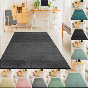 Teppich Wohnzimmer Einfarbig Weich Modern Kurzflor, Versch. Größen Farben