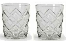 2x Whisky cocktail tumblers drinking glasses 360ml Pinea