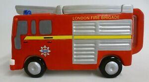 Vintage London's Burning LWT Western House Porcelain Teapot London Fire Brigade
