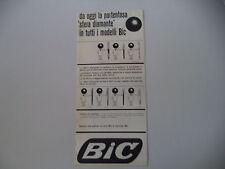 advertising Pubblicità 1961 PENNA BIC M-10/MISTERO/SUPERBIC/CRISTAL/CLIC/SILVER