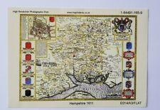 John Speed Replica Map Hantshire