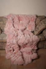 Light Pink Fox Paws fur blanket throw comfort softness saga furs best cozy home