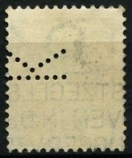 "Netherlands 1924-6 SG#311A 5c Green Used Perfin ""K"" #D71411"