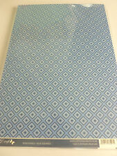 NUOVO-craftstyle - 2 x A4-CARTONCINO-quadratini blu