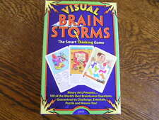 1995 Binary Arts VISUAL BRAIN STORMS 100 Cards Smart THINKING Game For Ages 11+
