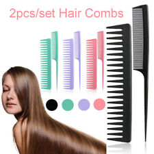 2pcs/set Anti-static Wide-tooth Fine-tooth Hair Comb Set Hairdressing Tools E