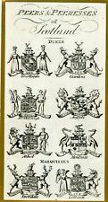 Scotland Rare 1795 Copper Engraving Peers & Peeresses Scotland(Dukes/Marquisses)