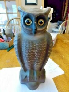 Swisher and Soule paper mache 2 face owl decoy EXCELLENT  NO RESERVE