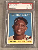 1958 TOPPS #5 WILLIE MAYS PSA EX-MT 6 HOF