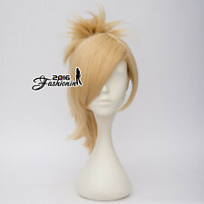 Anime For Overwatch Light Blonde Wavy Heat Resistant Cosplay Wig + 45CM Ponytail