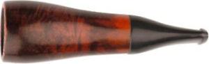 Zigarrenspitze Bruyere Orange / Black - 18 mm Ø - Mundstück Acryl - Stoffbeutel