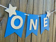 ONE Banner Bunting - Little Star 1st First Birthday Highchair Garland