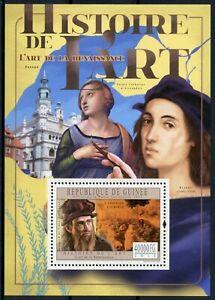 Guinea History of Art Stamps 2011 MNH Renaissance Leonardo Da Vinci 1v S/S VIII
