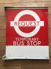 More details for london transport rare double sided metal temporary request bus stop