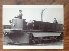 Postcard~ Walthamstow Electric Tramways track sweeper c 1905  (1980 REPRO)