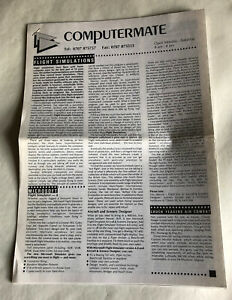 Computermate leaflet printed newesletter, 1990s