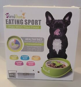 Slow Feeder Dog Bowl, Pet Prolong eating time, Pink  sz. small 0.4L