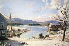 John Stobart Print - Somesville: A View Of Mount Desert From Somes Cove, c. 1870