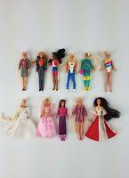 """Vtg 90s McDonalds Small 4"""" Barbie Doll Lot Of 11 Barbie Teresa Midge Christie VG"""