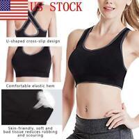 US Women Sports Bras for Women Crossback Sports Bras Padded Seamless Gym Bras