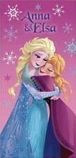 "Nwt Disney Frozen Anna & Elsa Velour Cotton Beach Or Bath Towel 28"" x 58"" Nwt"