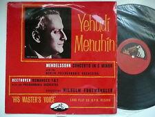 MENUHIN PLAYS MENDELSSOHN VIOLIN CONCERTO & BEETHOVEN PO FURTWANGLER EMI 1135