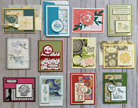 12 Handmade Sympathy Get Well Thinking of You greeting cards env Stampin' Up! +