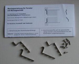 Montagewinkel  Mückenfenster Blendrahmenstärke 16 mm