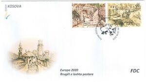 Kosovo Stamps 2020. Europa CEPT: Ancient Postal Routes. FDC Set MNH