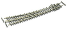 Peco SL-E386F Curved Radius Right Hand Point Electrofrog Code 55 rail N Gauge
