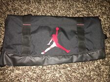 NIKE Air Jordan Jump Man Duffle Gym bag travel Black/Red wet/dry shoe pocket