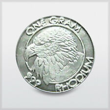 Rhodium coin 1 gram manufactured by The Cohen Mint and offered by RWMM