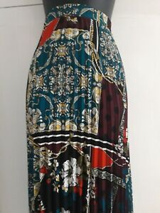 Soon Sunray Pleated Skirt Multi Colored Size 14