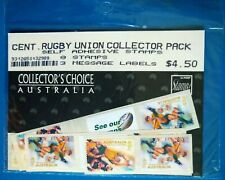 New listing Australia Cent. Rugby Union MNH 8 stamp $4.50 Face value