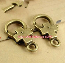 P855B 20pc Antique Bronze Love cross Large LOBSTER CLAW CLASPS 15*27MM