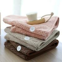 Männer Frauen schnell trocknende Haare Turban Wrap weiche Handtücher