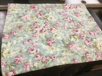 (2) Laura Ashley-Pillow Shams-Standard Size-20 x 26-Pink/Blue/Green-Floral-NICE!