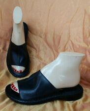 BORN Black Real Leather Slides Mules Comfort Sandals-Women's US Size 6-Euro 36.5