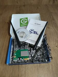 CSL WLAN-Adapter Netzwerkkarte 302372 300 Mbps 2.4 GHz PCI-E x1