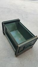 Vintage  Stackbin #3 Hopper Bin  Metal Box Industrial Stacking Bin  Parts Bin