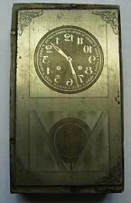 Plaque Imprimerie horloge clock uhr tiges regulateur carillon pendule no odo 24