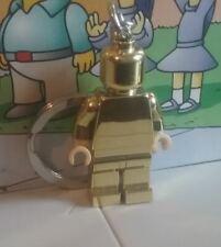 Town City lego mini figure GOLD CHROME KEYRING