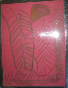 Leroy Person Outsider FOLK ART  DRAWING African-American Abstract Lynch