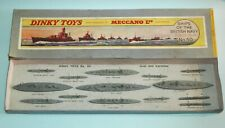 Meccano Dinky Toys pre war GIFT SET 50 SHIPS OF THE BRITISH NAVY BOXED 14 pcs