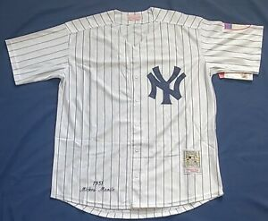 Mickey Mantle #7 New York Yankees Stitched Button Down Baseball Jersey Size LG