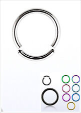 Seamless Surgical Steel Segment Ring Hoop Ear Nose Lip Cartilage Tragus Helix