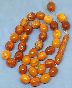 old baltic amber natural 28g TASBIH ISLAMIC 33 PRAYER BEADS ROSARY
