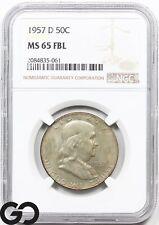 1954-D PCGS MS65 FBL Franklin Half Dollar 100/% White