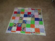 FINISHED HANDMADE BABY BLANKET  40 X 40 inches in size